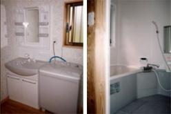 ローコスト住宅 洗面所、浴室