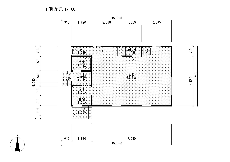 サーファーズハウス 完成予想図1 平面図1F