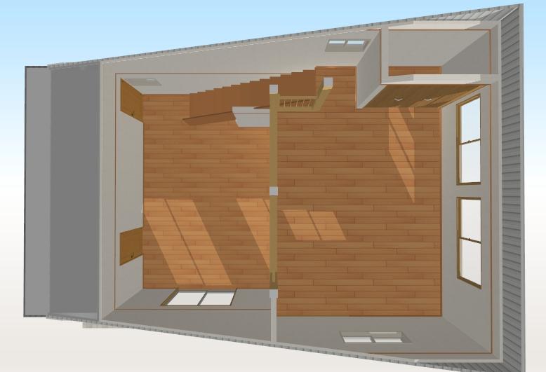 サーファーズハウス 完成予想図1 内観2F_1