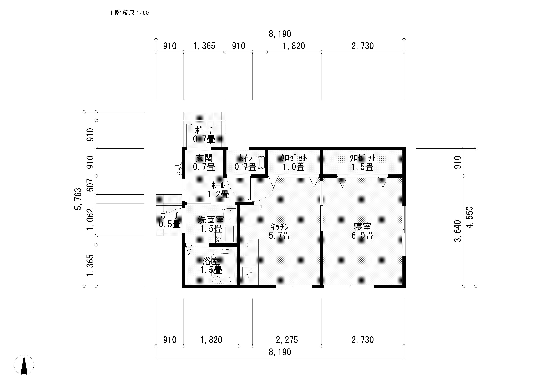 サーファーズハウス 完成予想図2 平面図1